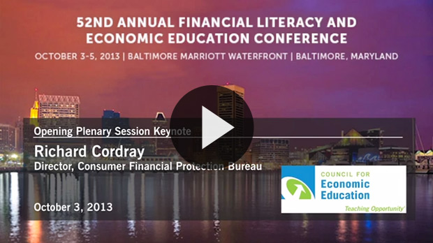 Watch the video of Richard Cordray at CEE's National Conference
