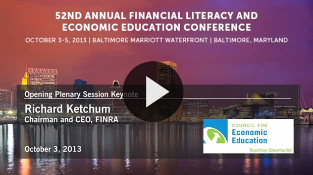 Watch the video of Richard Ketchum at CEE's National Conference