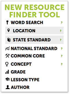 EconEdLink Resource Finder Tool