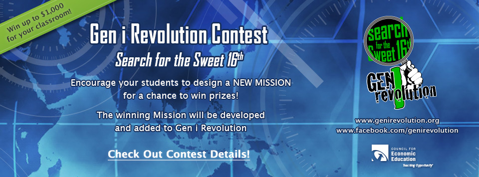 Gen i Revolution Contest, Search for the Sweet 16th