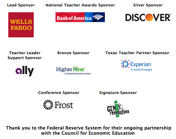 53rd Annual Financial Literacy and Economic Education Conference Sponsors