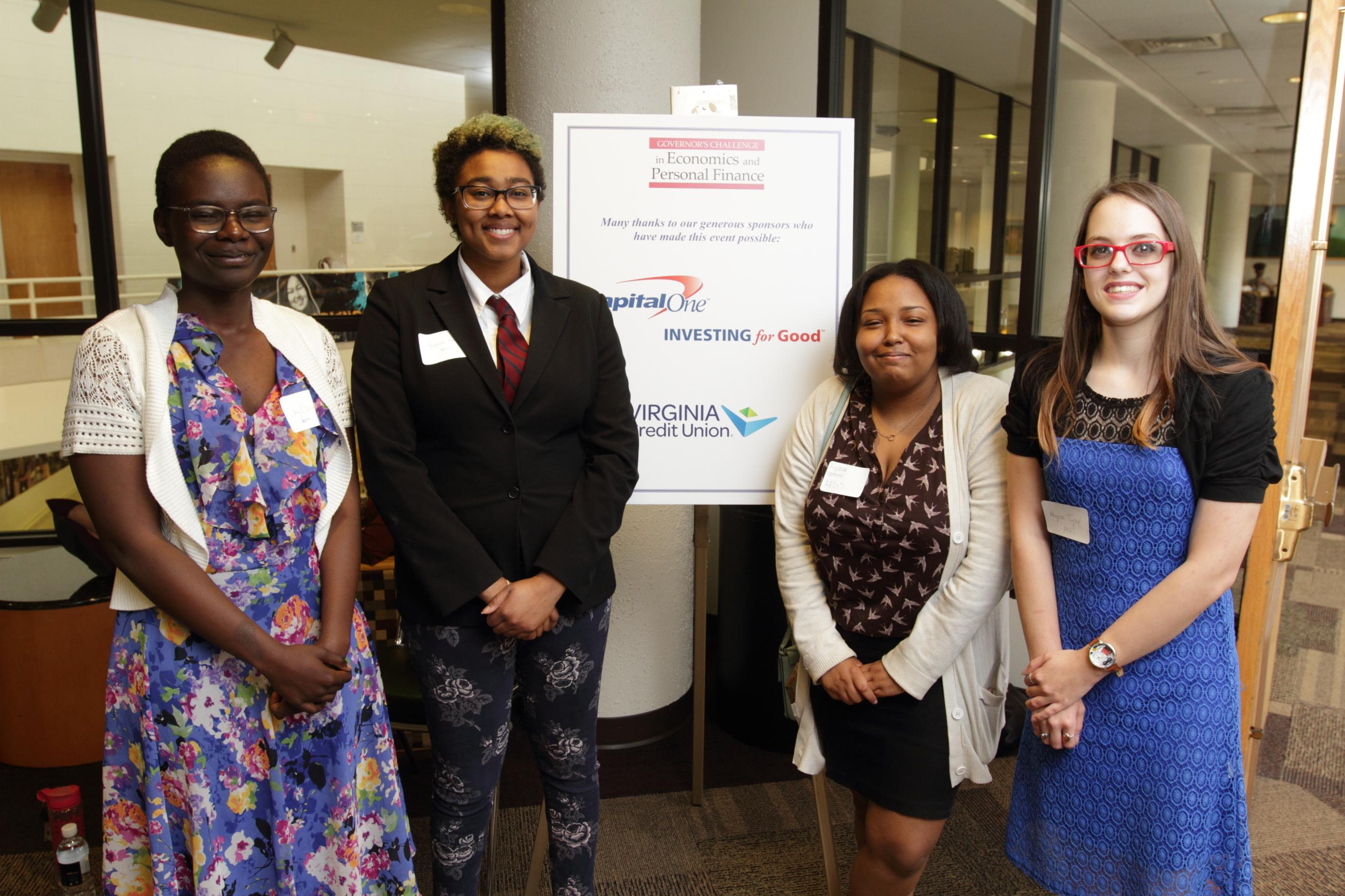 Appomattox Regional Governor's School for Arts and technology - L-R: Joy Ochieng, Ariyana Woody, Keyanah Valentine, and Alyssa Tyson