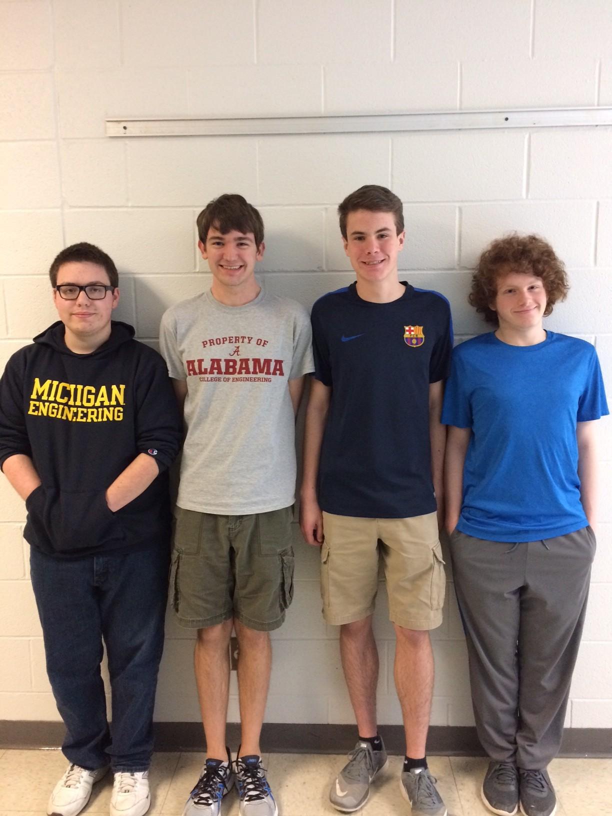 Campbell County High School - Colton Graham, Anthony Schwarberg, Joel Sebastian, Mitchell Turner