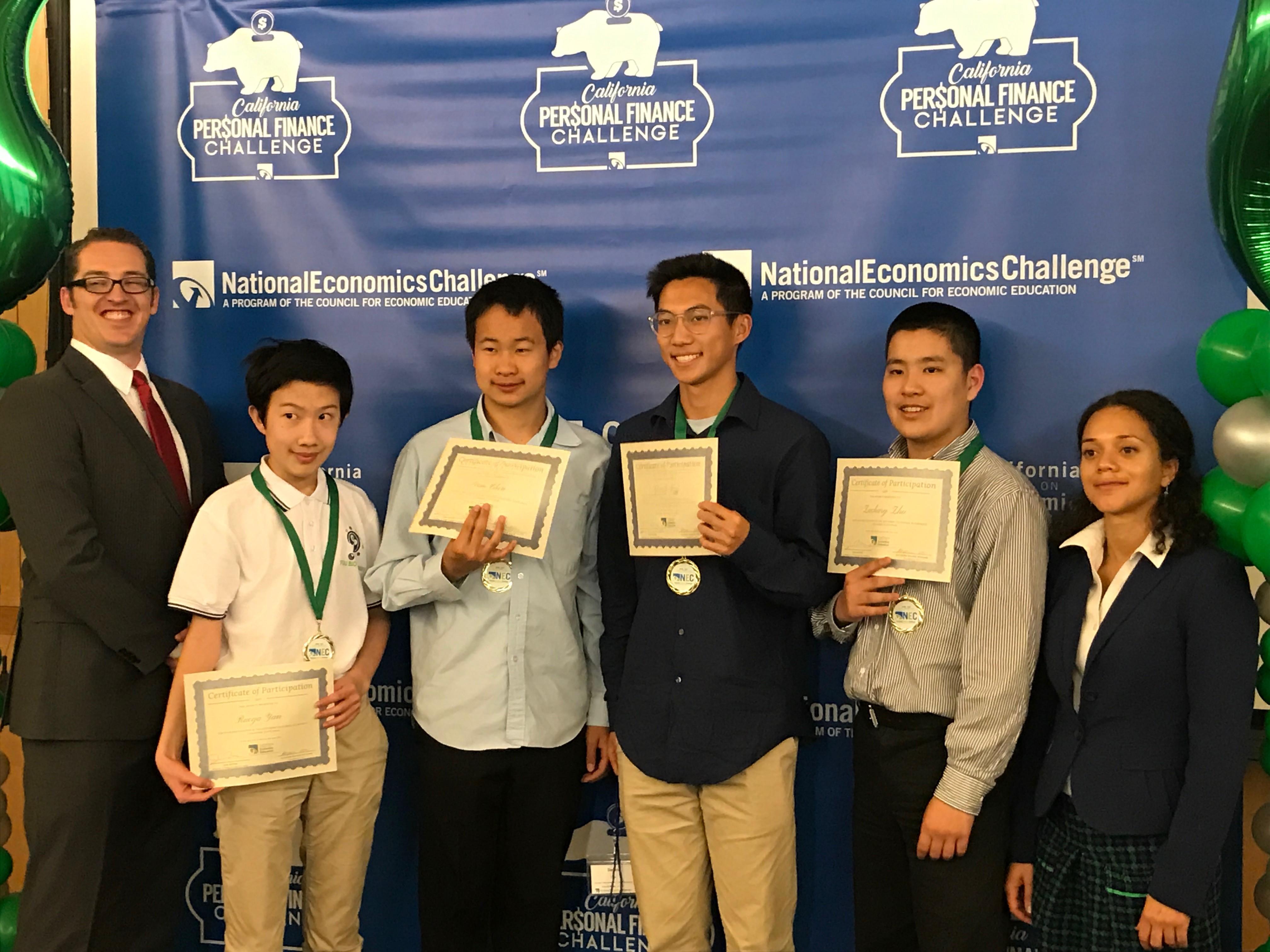 Canyon Crest Academy (L to R) Ruoya Yan, Sean Chen, Devin Tsai, Zachary Zhu