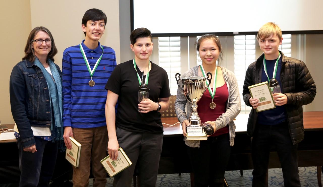 Decatur High School. Left to right... Susan Brown (coach), Will Mackintosh, Rachel Bloom, Bailey Tocups, Zach Slaton