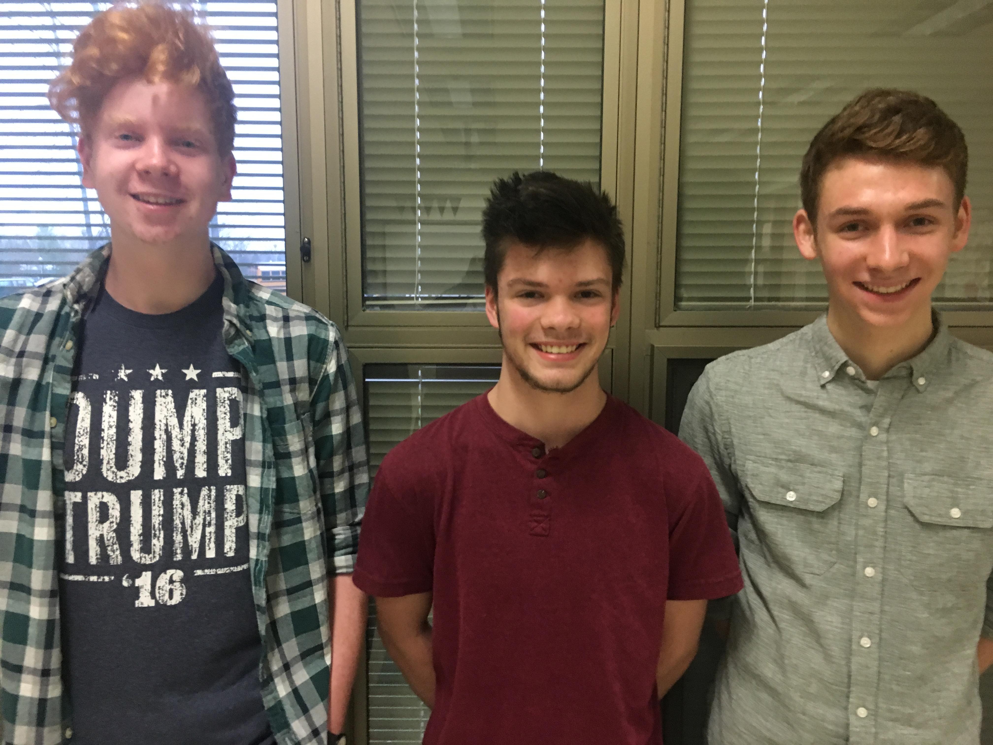 Highland High School Dylan Cox, Larkin Cleland, Benjamin Lewton