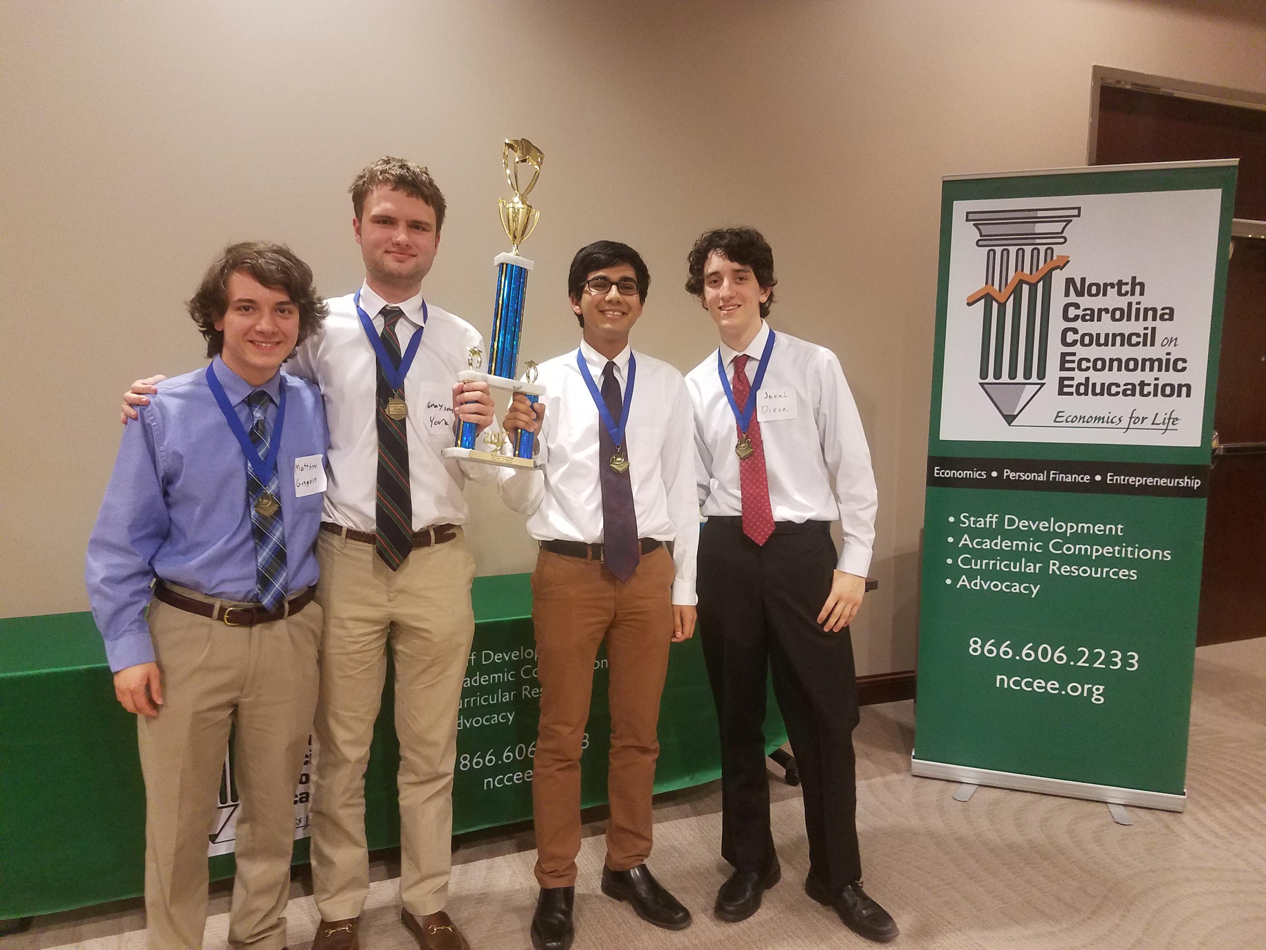 North Carolina School of Science and Mathematics- Matthew Gregoire, Grayson Alan York, Nolan Miranda, and Jonah Dixon.