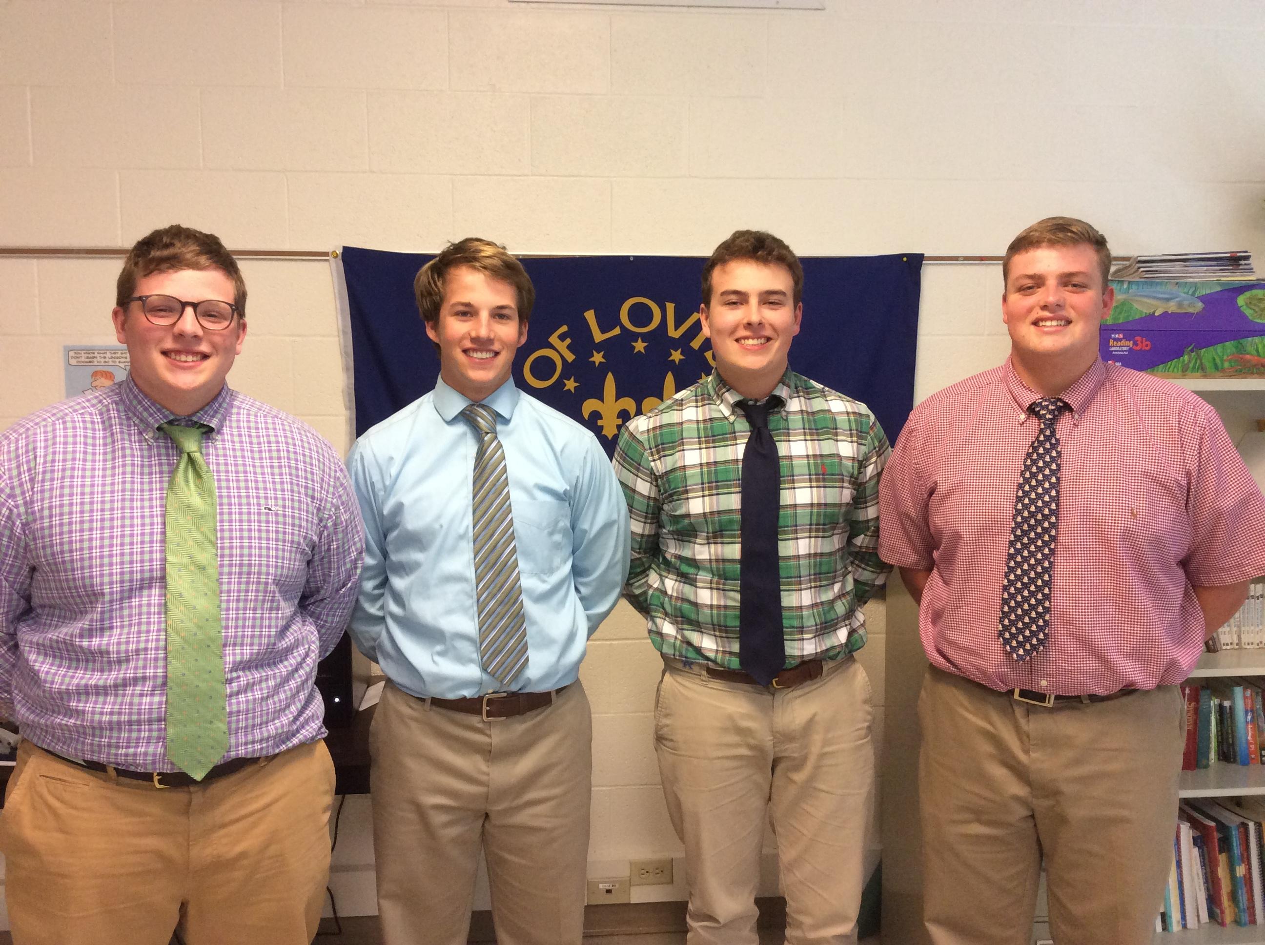 Saint Xavier High School Nick Canaday, Alex Feller, Ben Chambers, and Aaron Curley