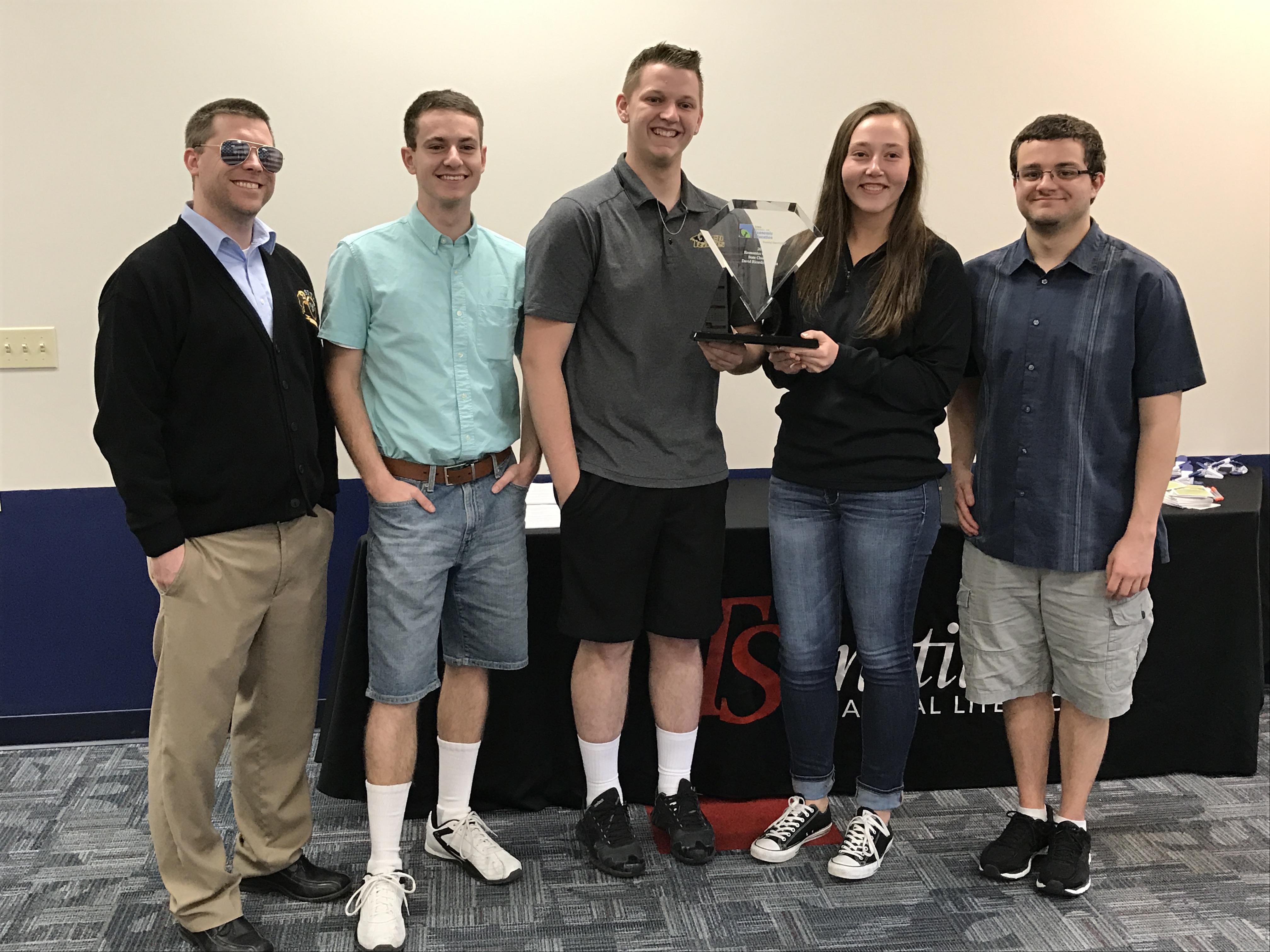 Southeast Polk High School. Pictured are teacher Mike Johnson, students Owen Fischer, Talen Birchmier, Dyllan Johnson, and Jacob Veatch.